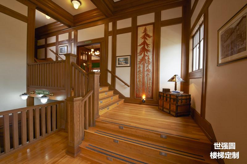 别墅实木全屋整装-实木楼梯