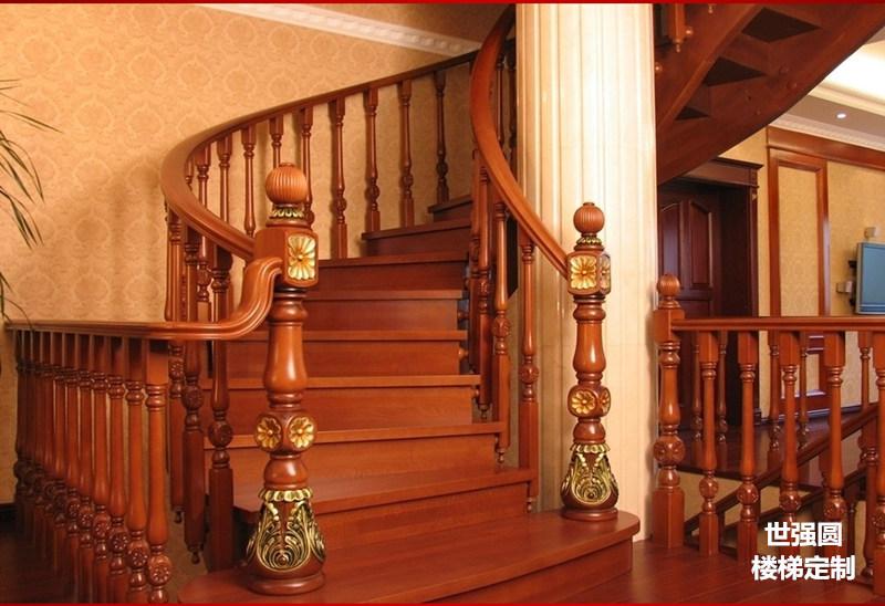 别墅楼梯扶手整体楼梯展示-菊花柱形款
